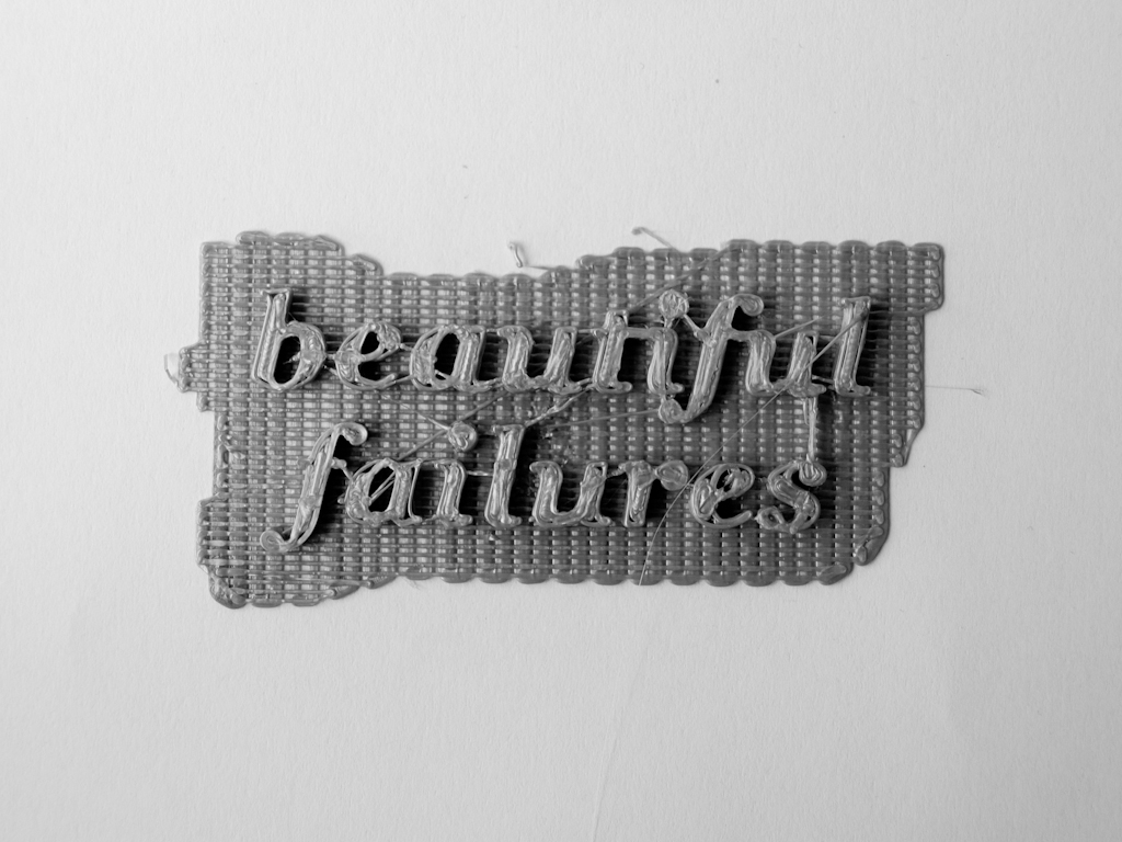 Beautiful Failures - A photographic collection of discarded pieces made with a domestic 3D Printer.