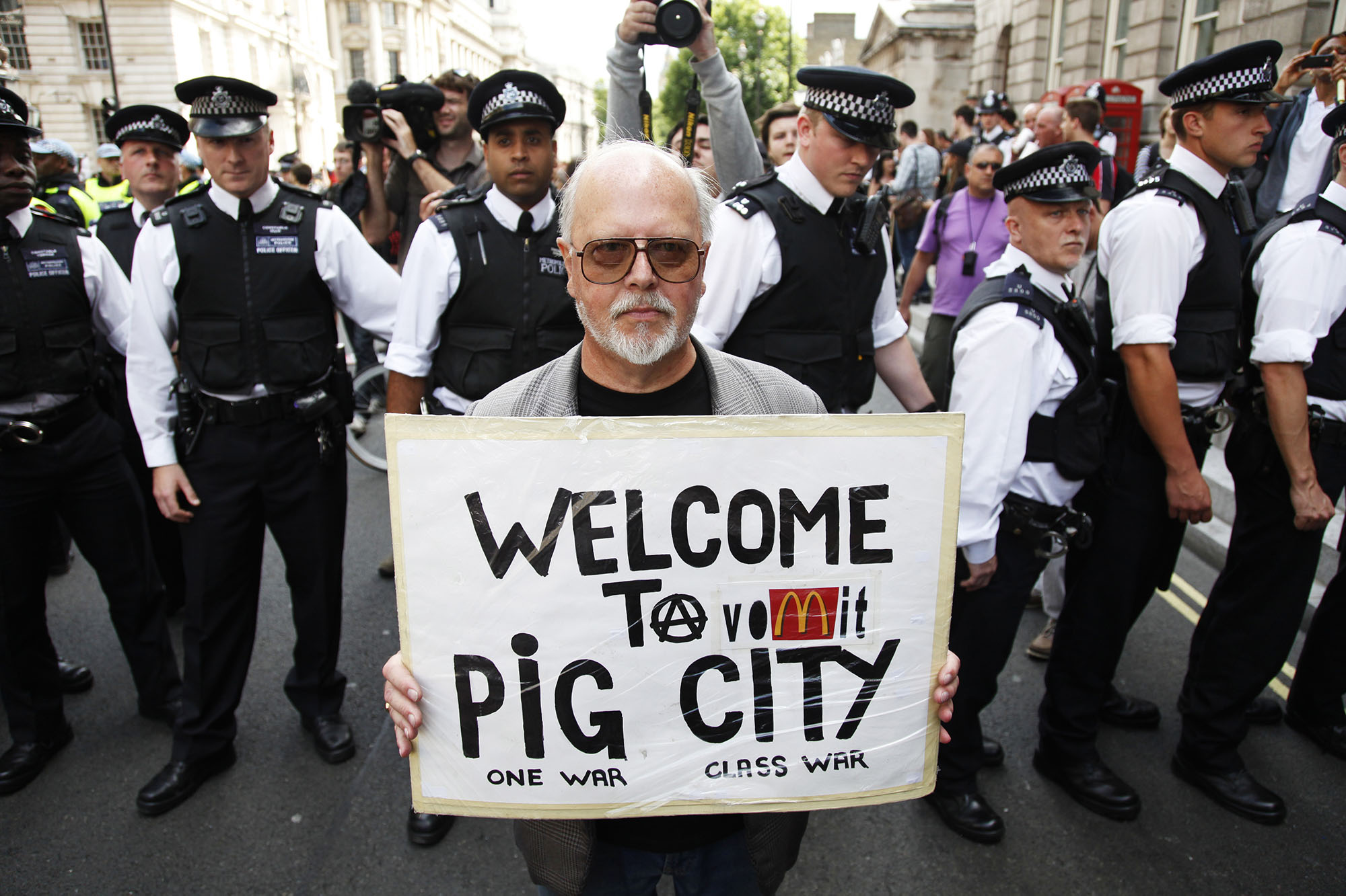 Welcome to Pig City, a regular on the demo circuit.