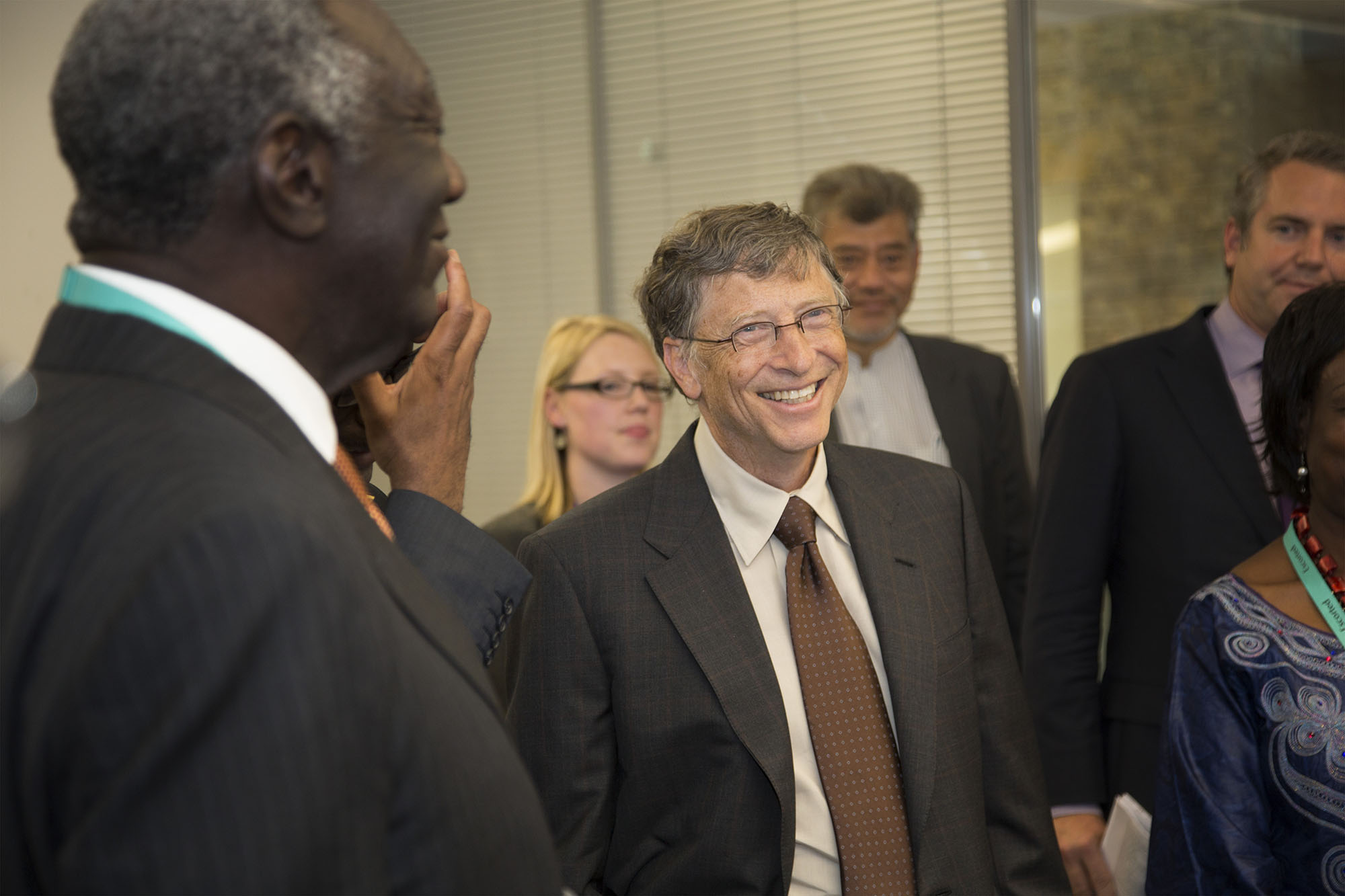 Bill Gates visiting DfID in London during a summit on World nutrition.  For the Bill & Melinda Gates Foundation.