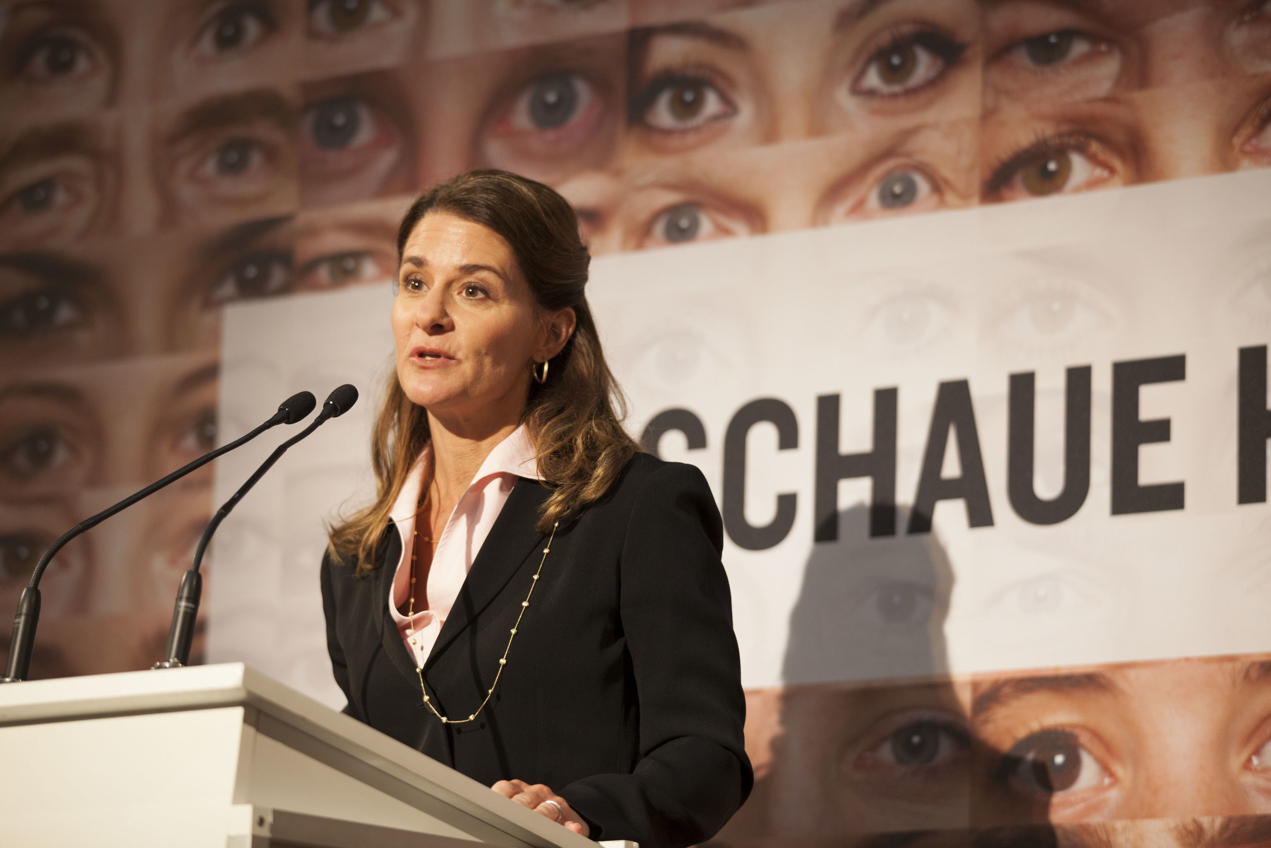 "Melinda Gates speaks at ONE Germany's ""Ich Schaue Hin"" Campaign.  For the Bill & Melinda Gates Foundation."