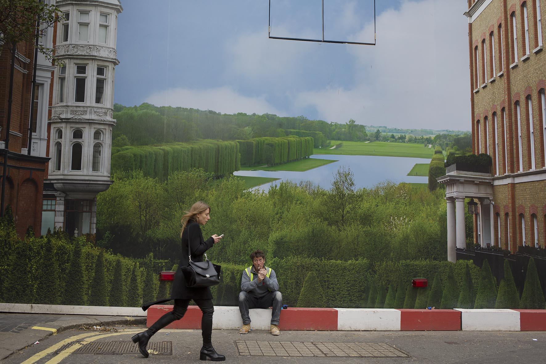 Bond Street hoarding. Copyright: Mike Kemp