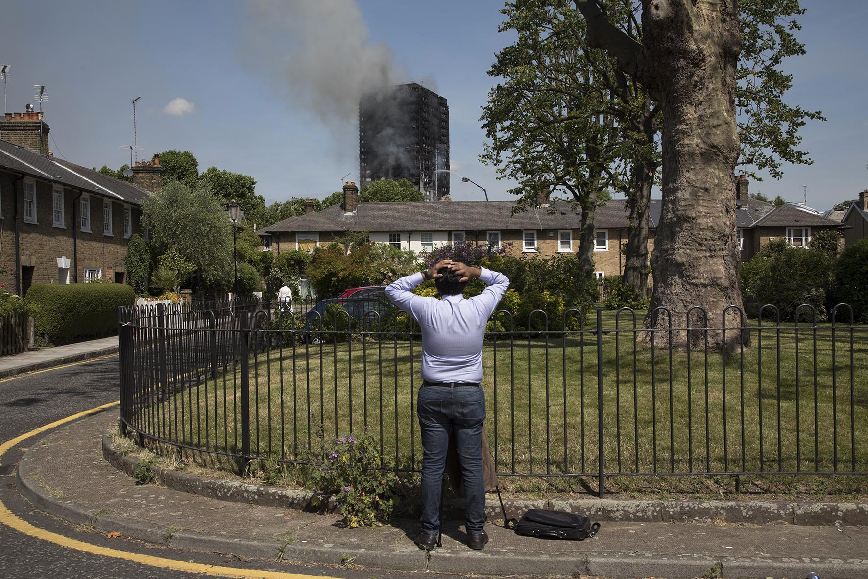 Grenfell Tower fire, West London 14th June 2017.