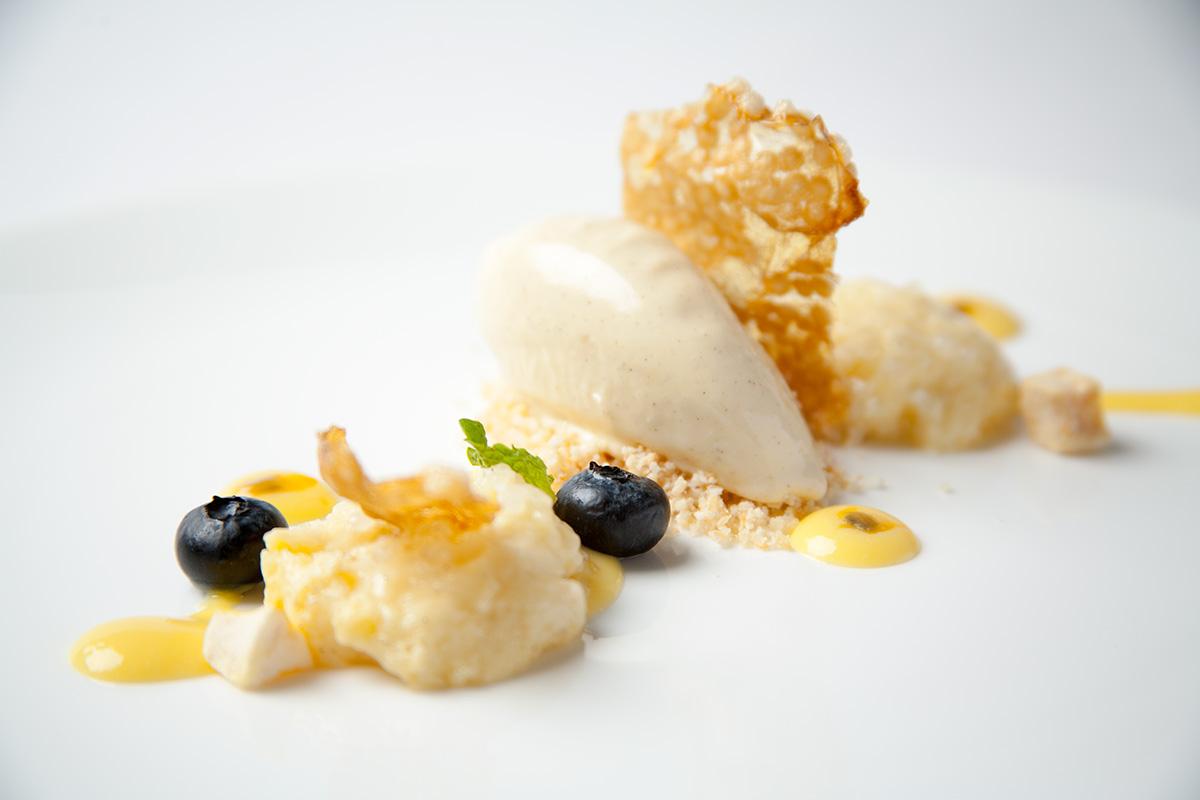 Passion Fruit Tapioca with Horchata Ice cream