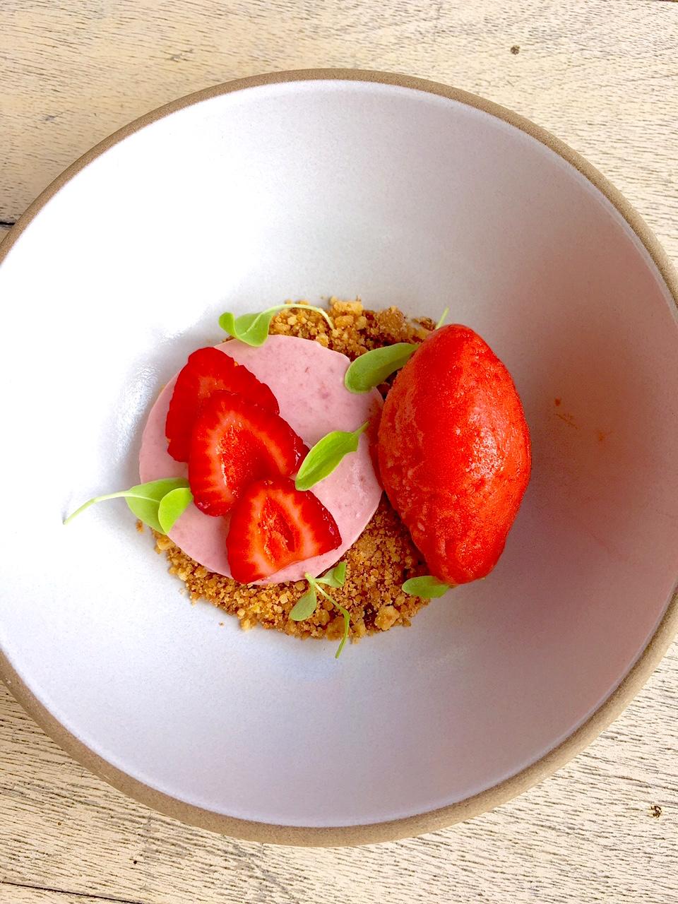 Coconut Strawberry Parfait