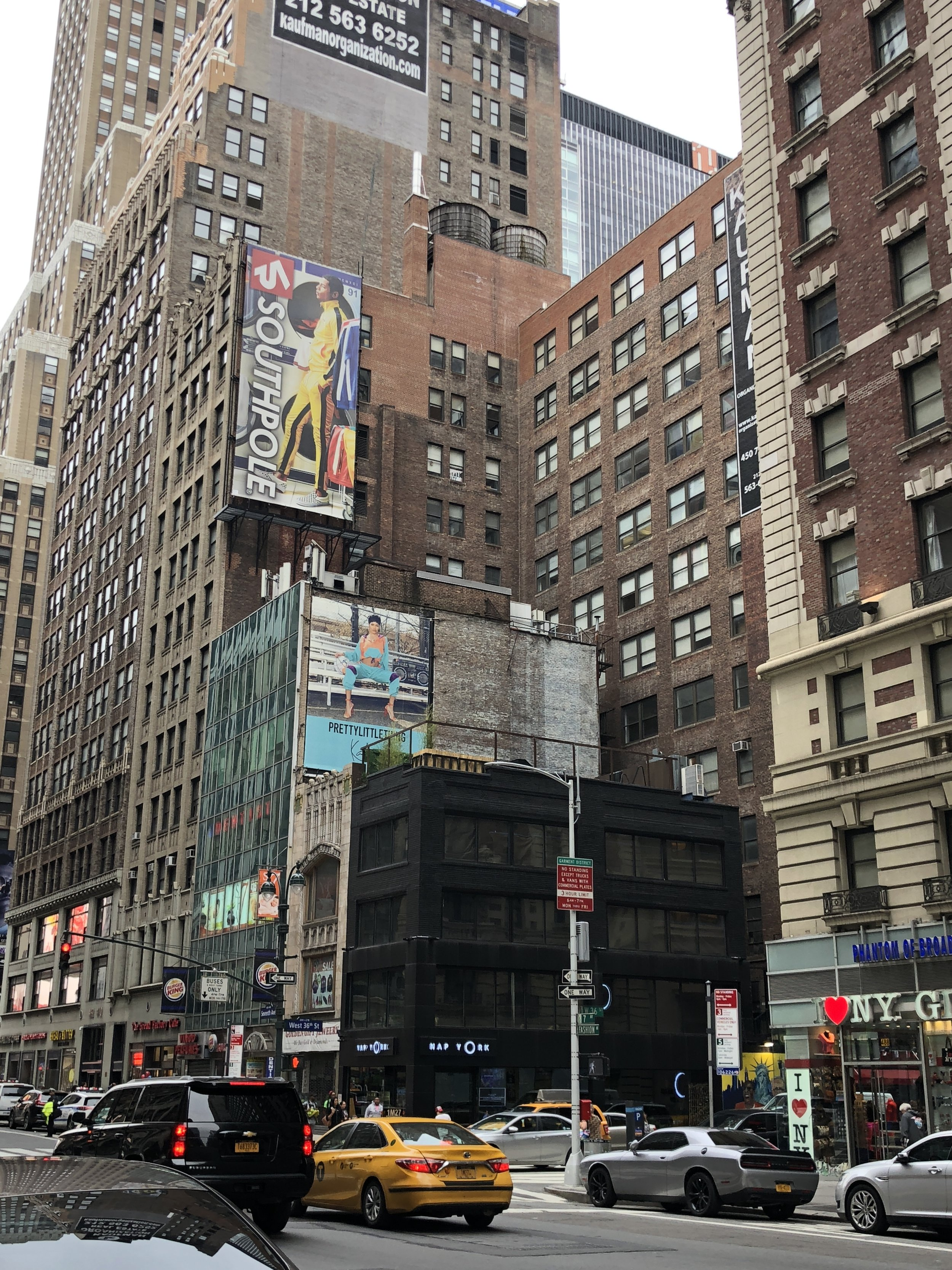 W 36th St and 7th Ave corner.