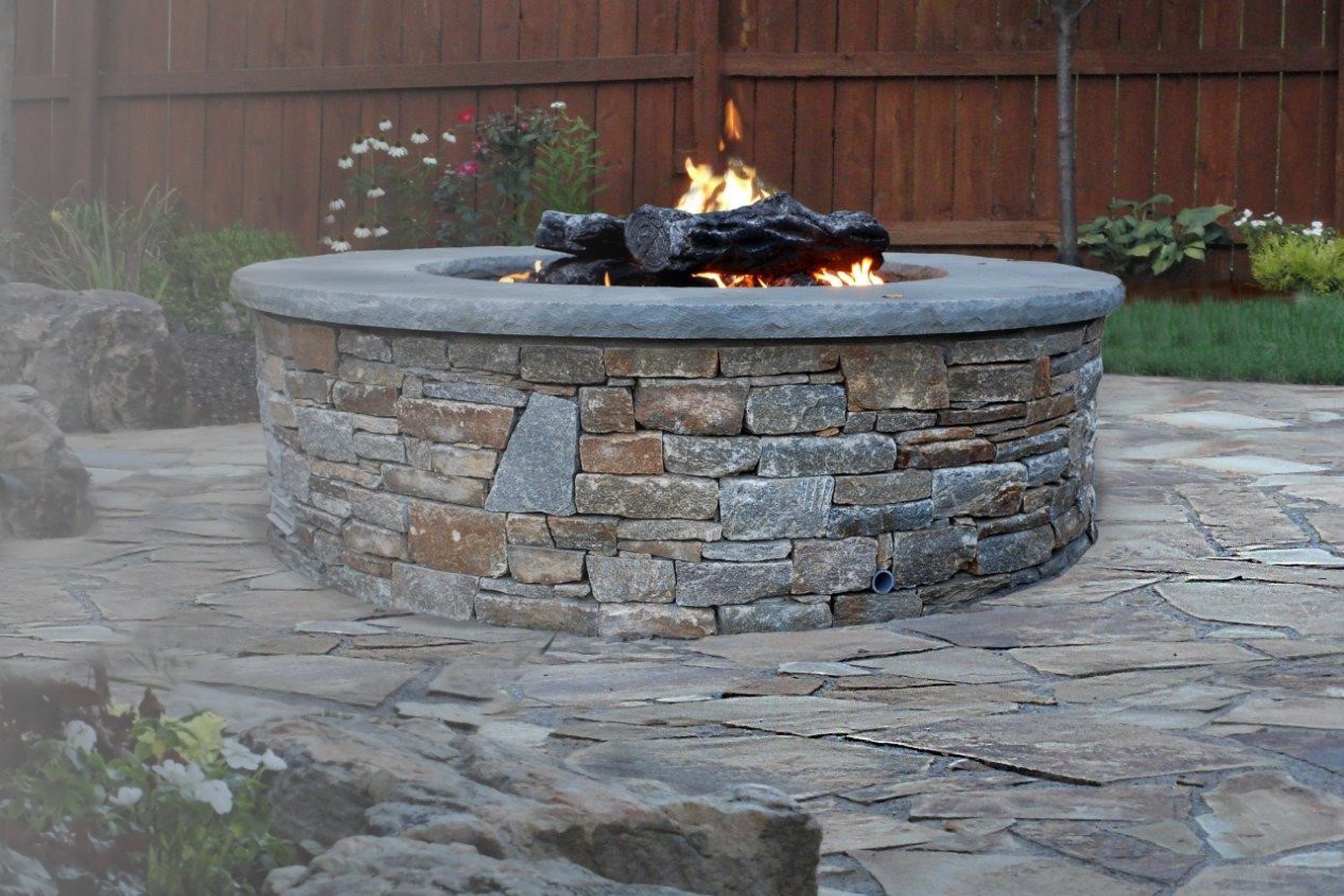 Outdoor Stone Firepit Connecticut