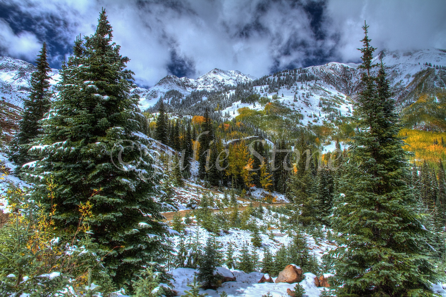 Red Mountain Pass Fall Snow 2013 (3)