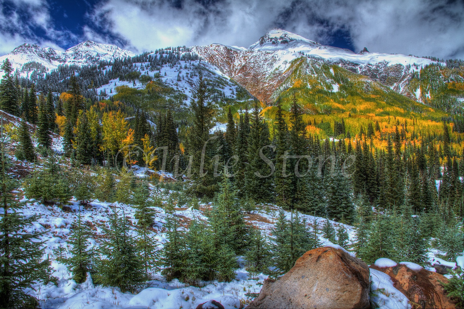 Red Mountain Pass Fall Snow 2013