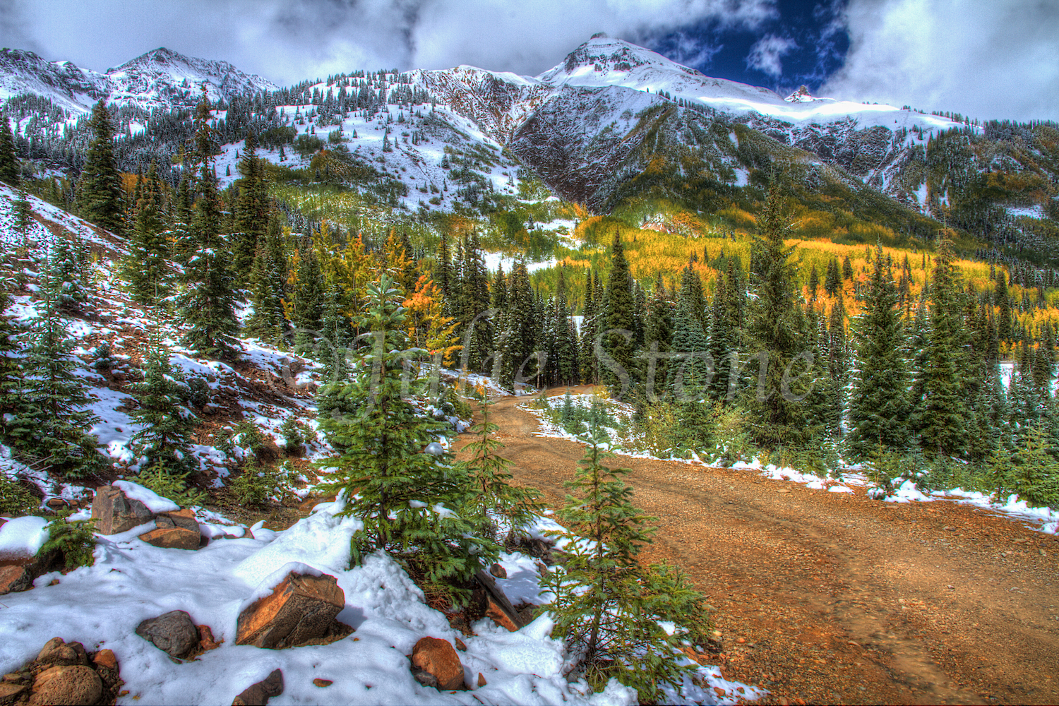 Red Mountain Pass Fall Snow 2013 (2)
