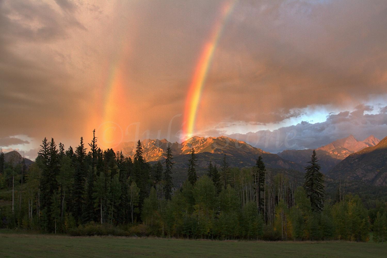 DOUBLE RAINBOW OVER THE NEEDLES 2014