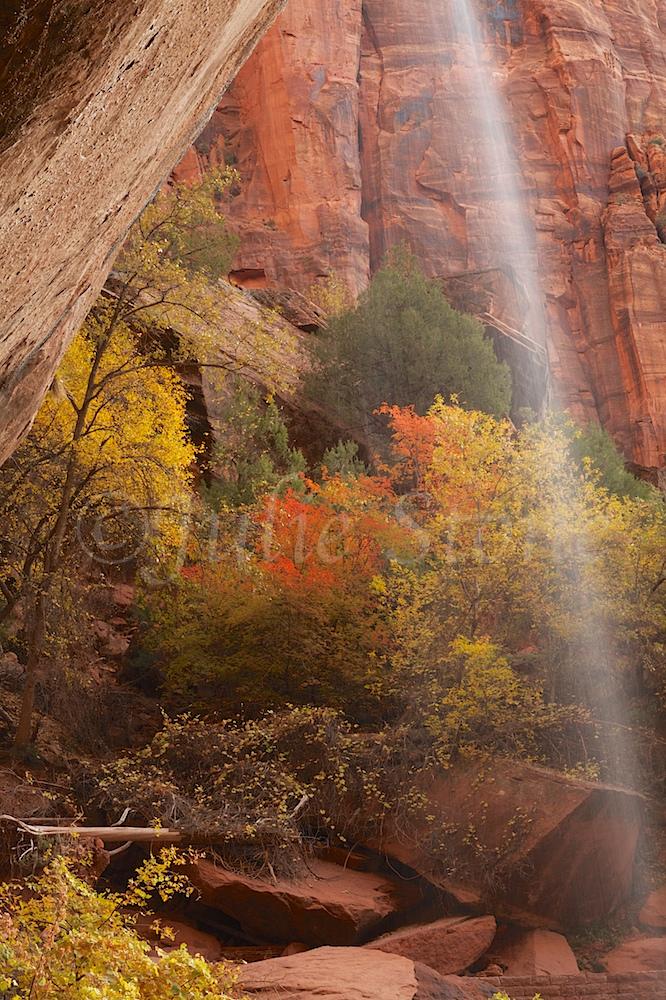 Waterfall at Lower Emerald Pools Fall 2014 (4)
