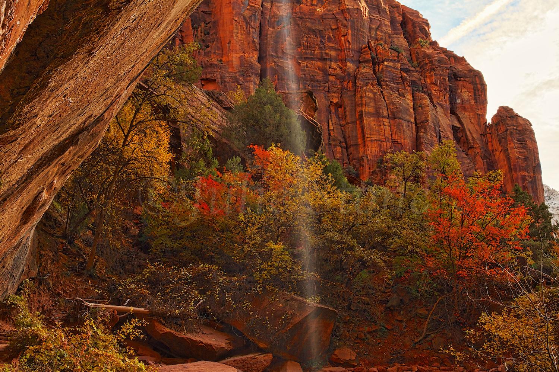 Waterfall at Lower Emerald Pools Fall 2014