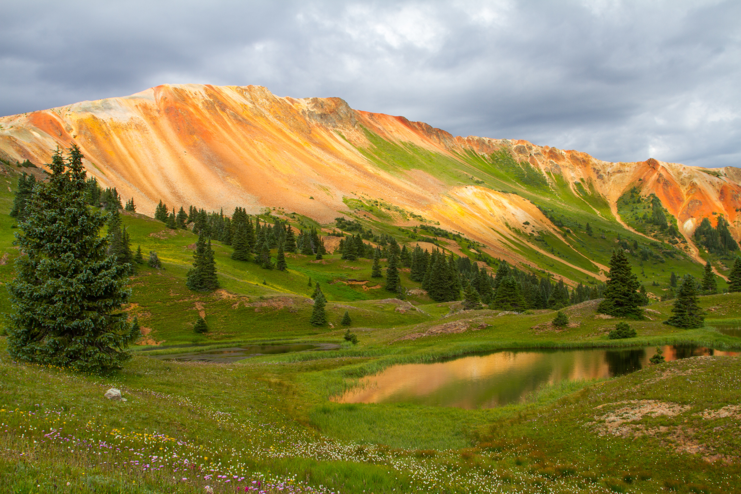 Gray Copper Gulch Pond Reflection, Image # 7687