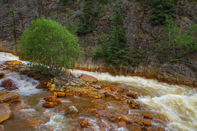 Uncompahgre River Gorge Falls, Image 9885