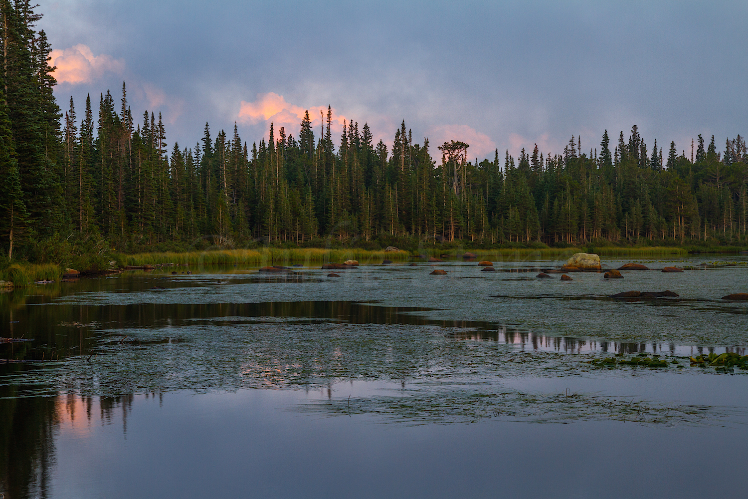 Redrock Lake Sunset, Image #4189