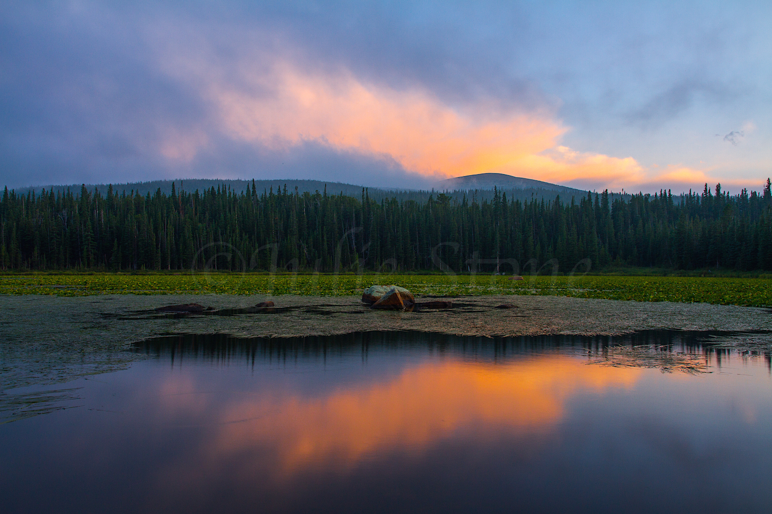 Redrock Lake Sunset, Image #4215