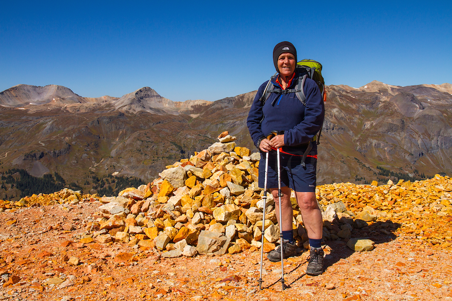 Red Mountain #3, Zarita at the summit, Image #0874