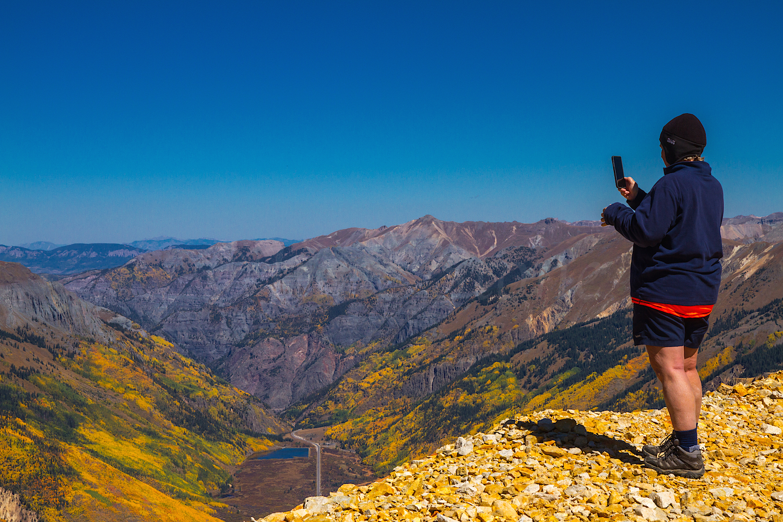 Red Mountain #3, Zarita taking a Pano, Image #1495