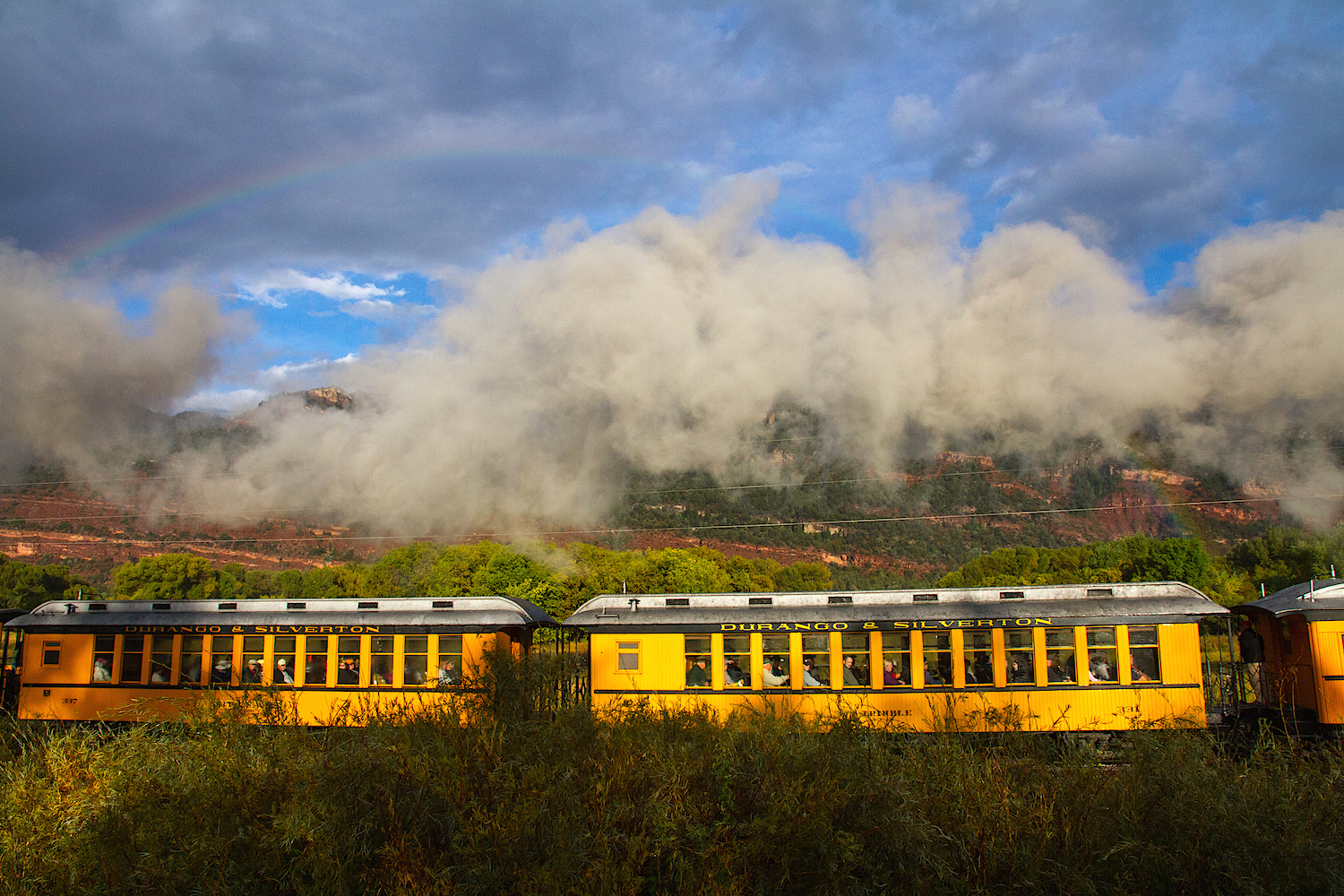 Durango Narrow Guage Train with Rainbow, Image #6076