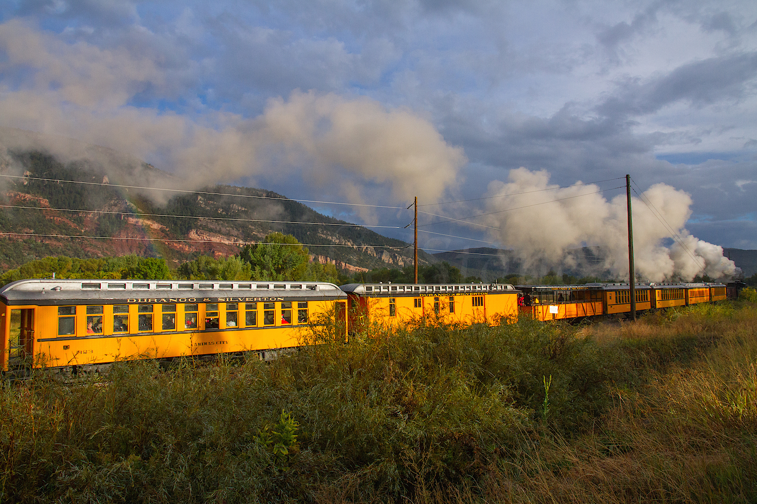 Durango Narrow Gauge Train with Rainbow, Image #6089