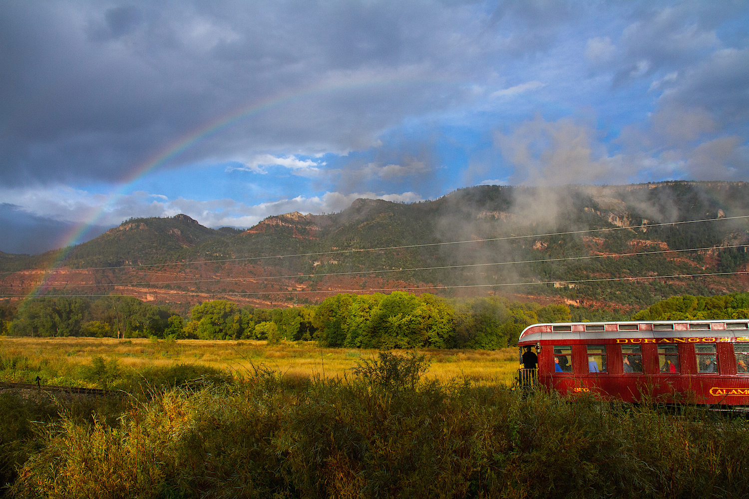 Durango Caboose with Rainbow, Image #6099