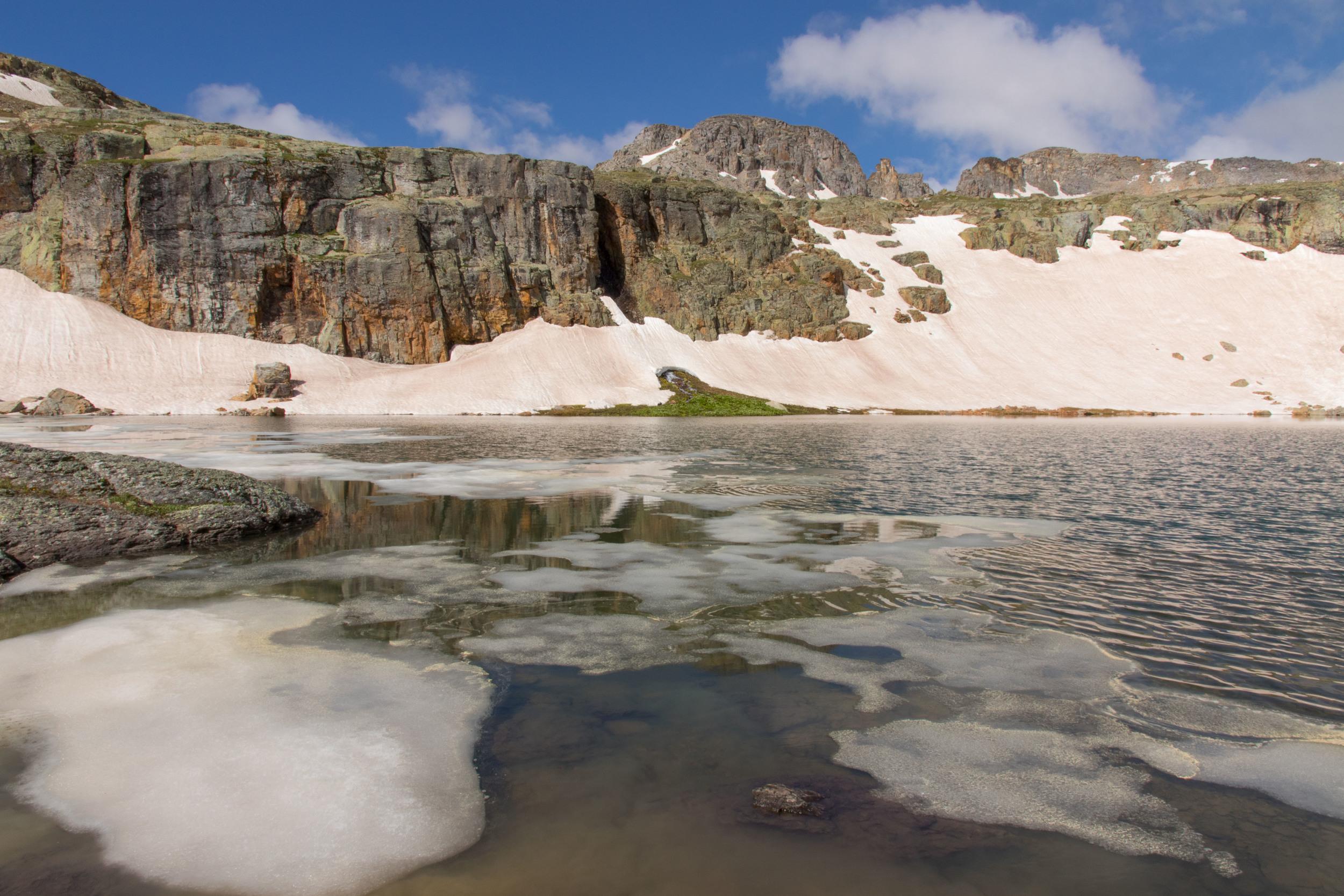 Ice on Bullion King Lake, Image #JS_5342