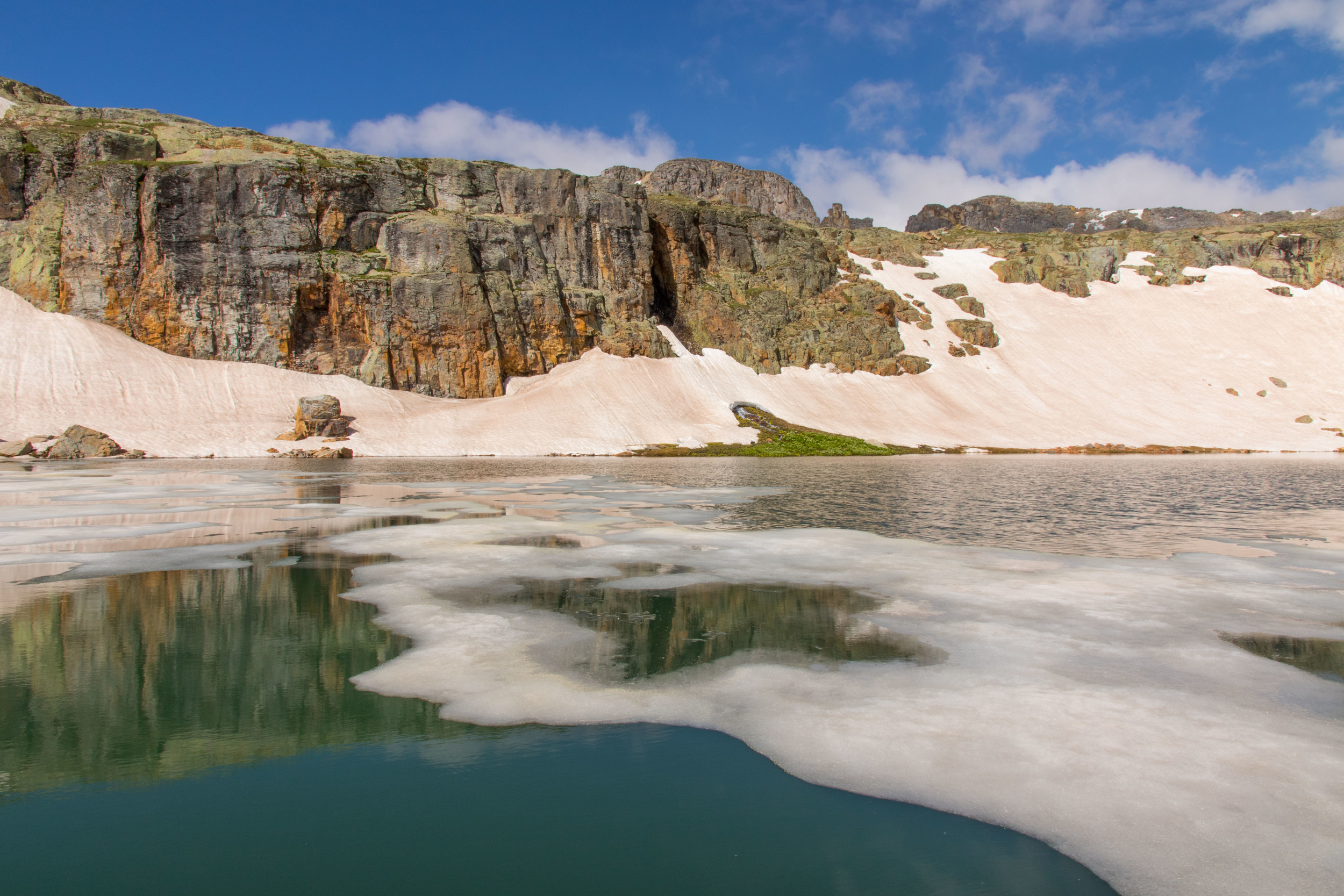 Ice on Bullion King Lake, Image #5352