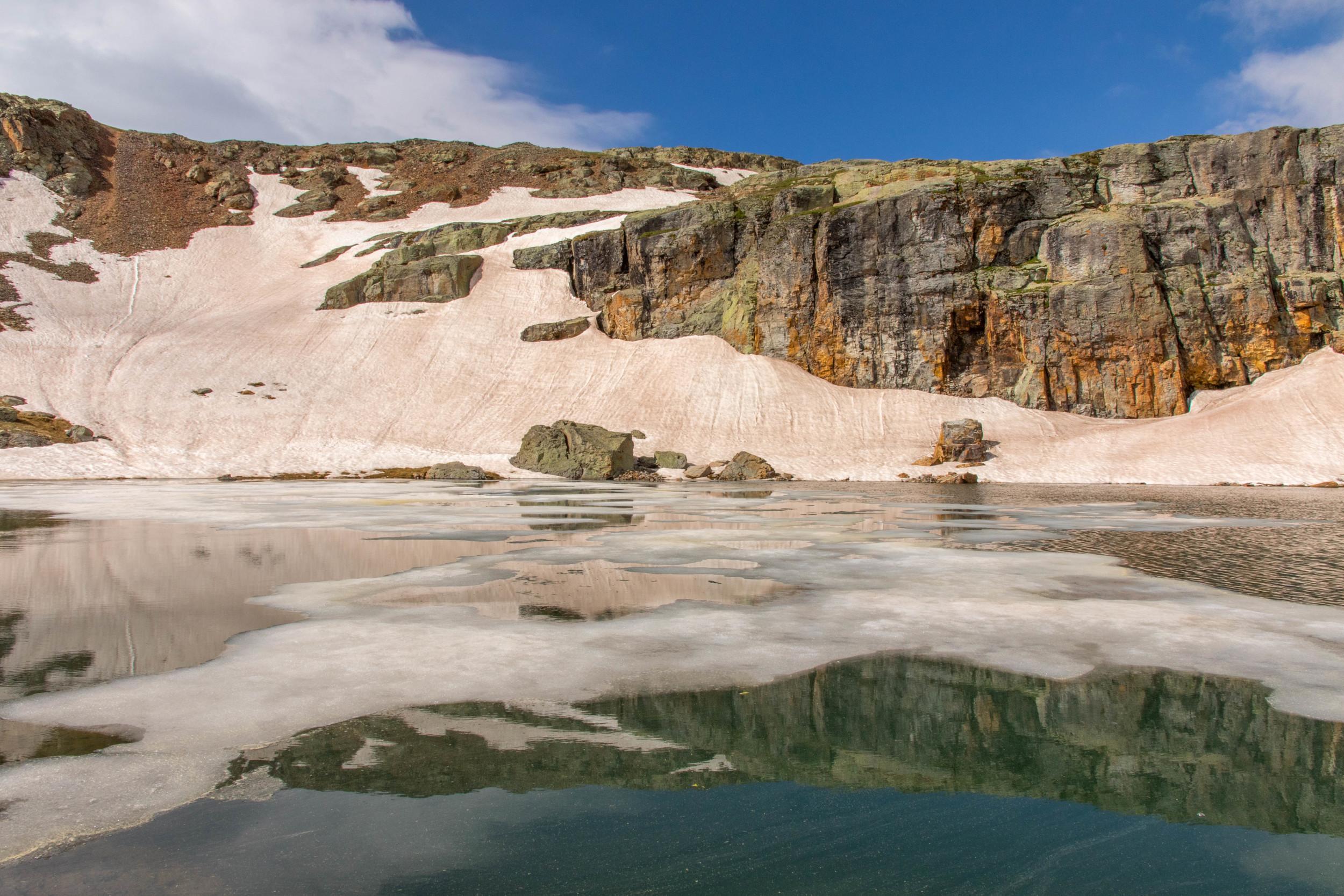 Ice on Bullion King Lake, Image #JS-5371