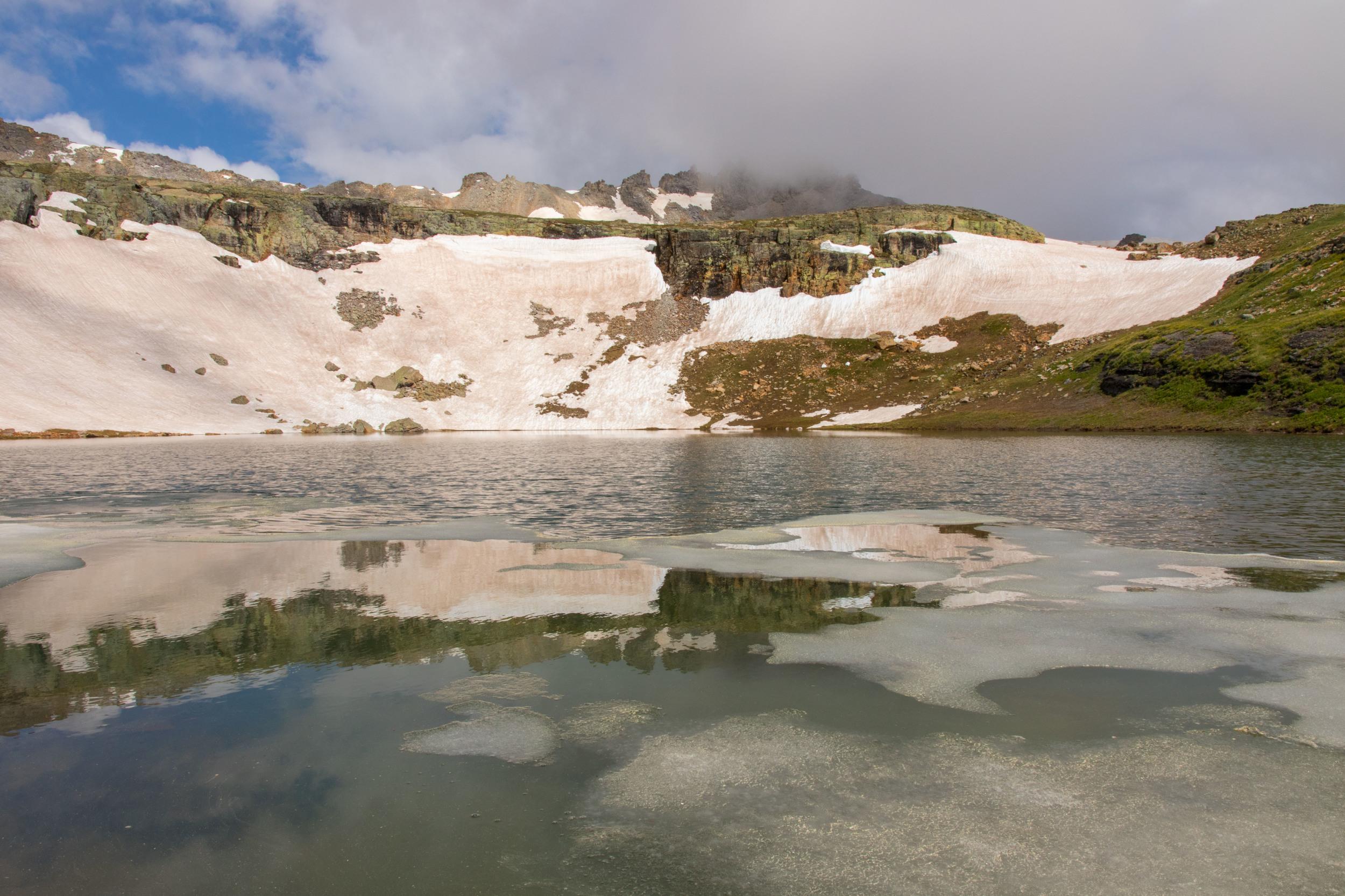 Reflection through the ice on Bullion King, Image # JS_5434