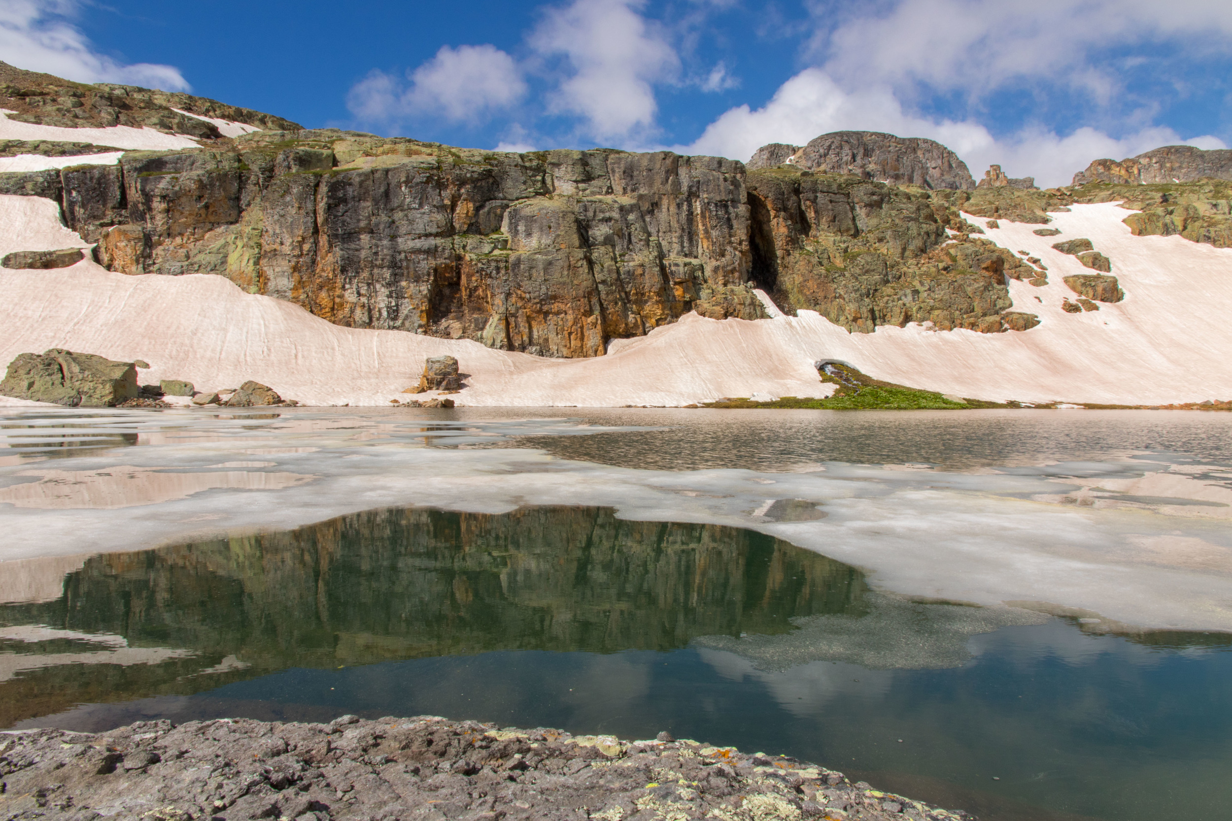 Reflection through Bullion King Lake, Image #JS_5443