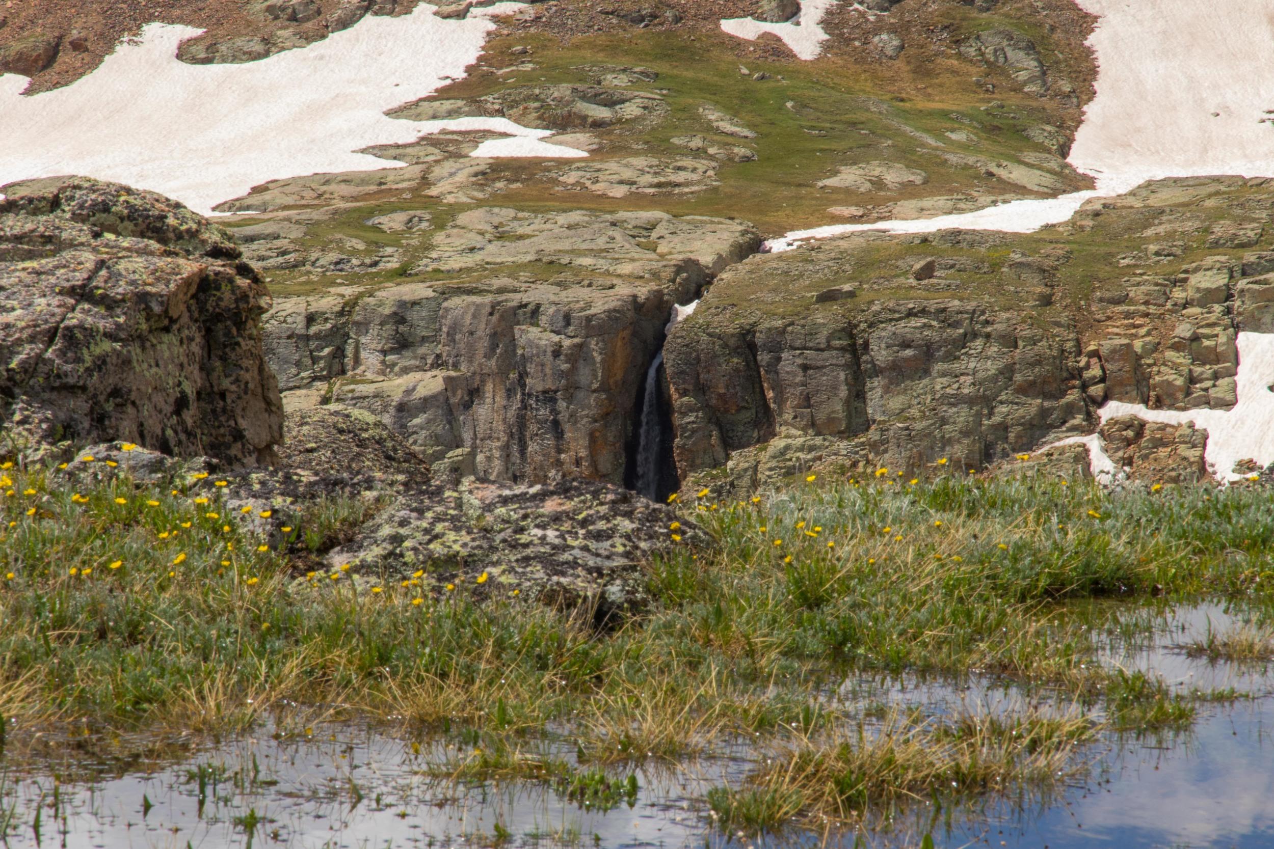 Bullion King Lake Waterfall, Image #JS_5671