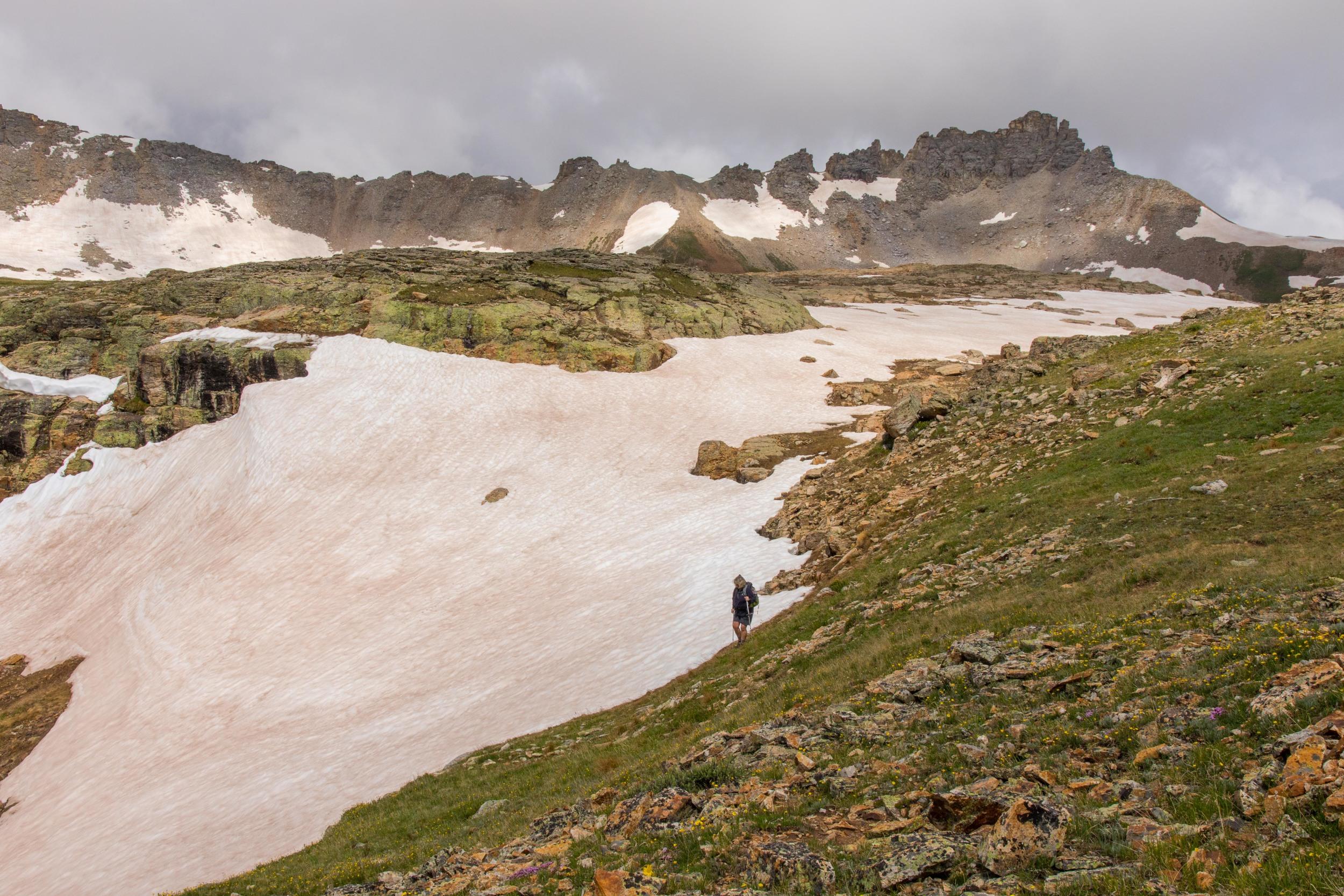 Zarita hiking down from the upper basin, Image #JS2_5712