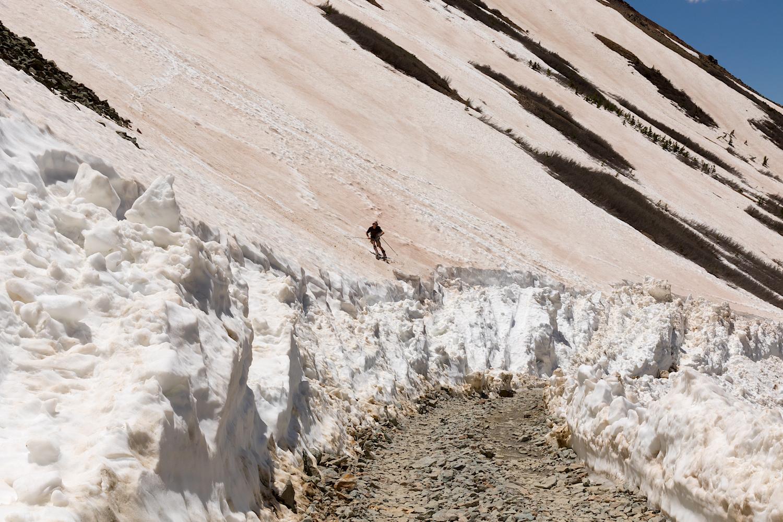 Unknown Skier on Ophir Road, Image #3075