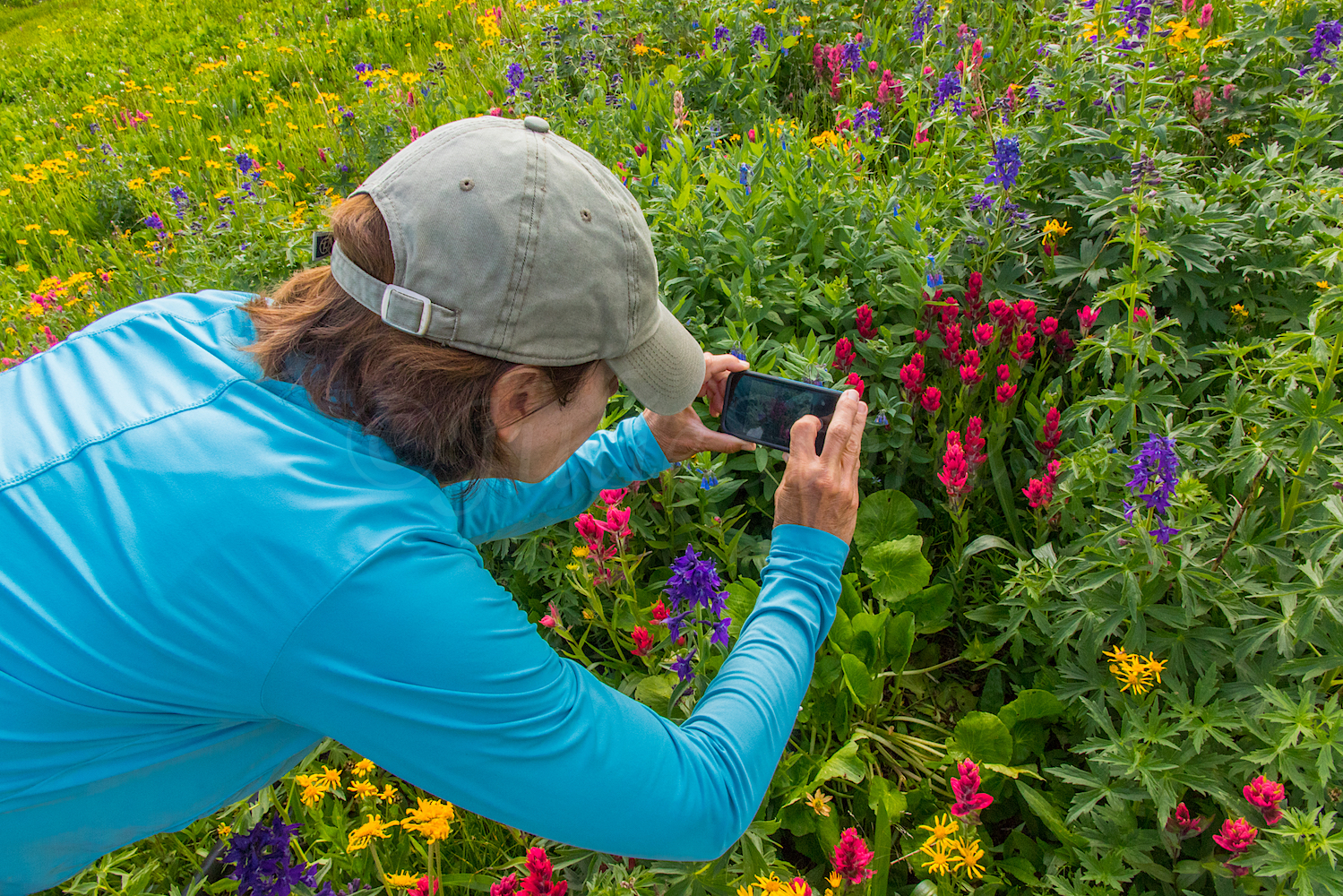 Angela gets the shot at Maggie Gulch, Image #JS_5592