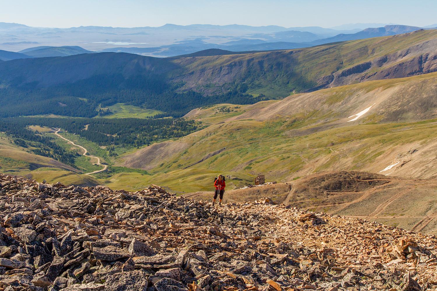 Zarita hiking up Mount Sherman, Image # 1719