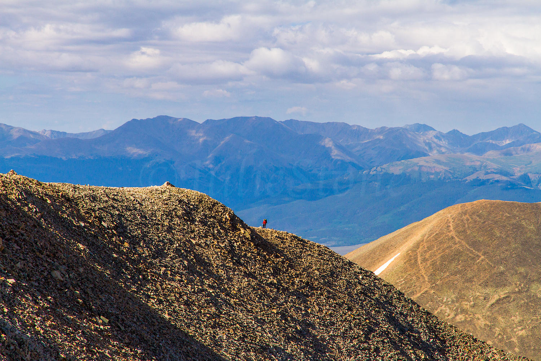 Zarita climbing Mount Sherman Ridge, Image # 1768