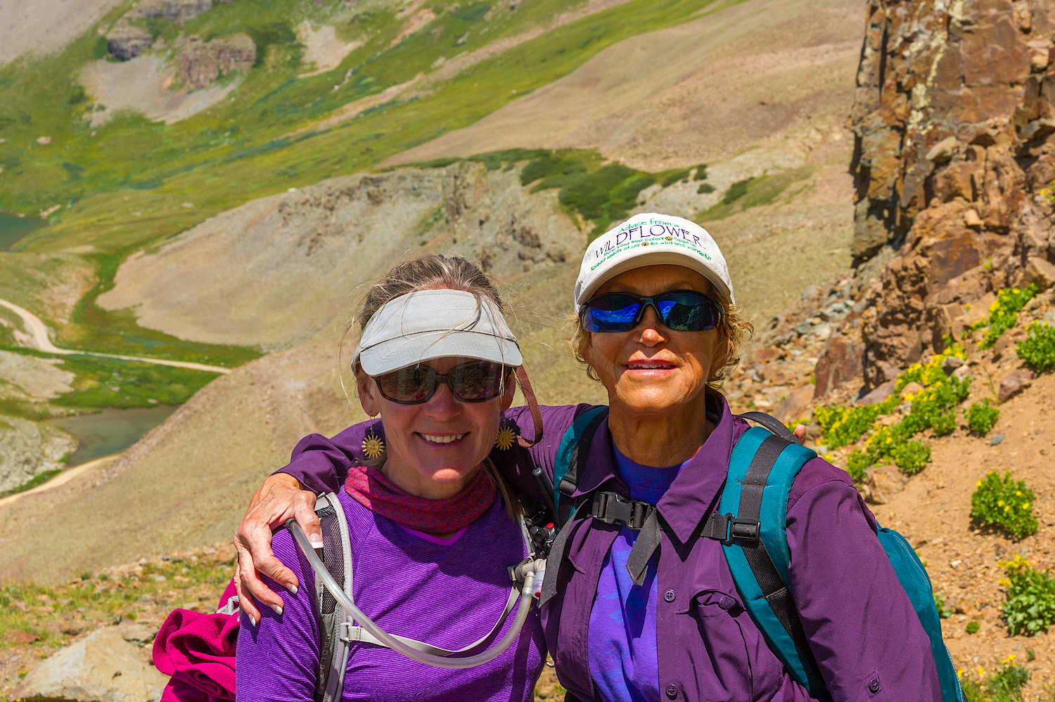 Jane Marie Johnson and Michelle Oppenheimer on Clear Lake Trail, Image # 4057