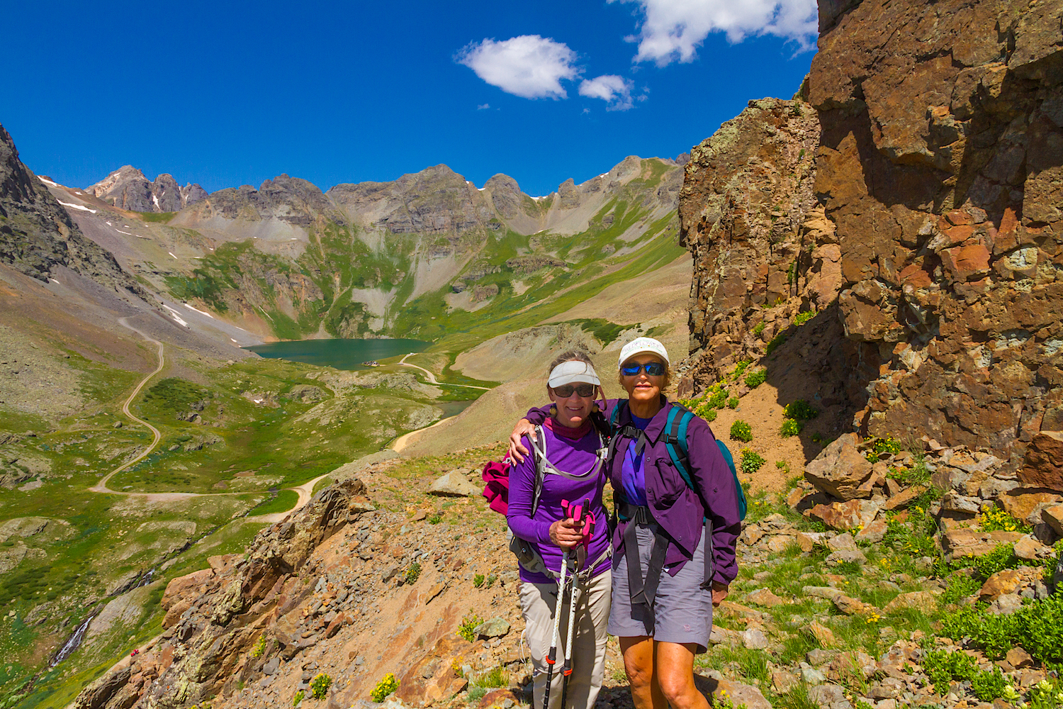 Jane Marie and Michelle on Clear Lake Trail, Image # 4058