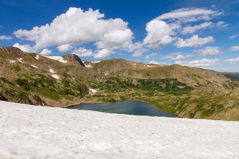 Snowfield above King Lake, Image # 0825