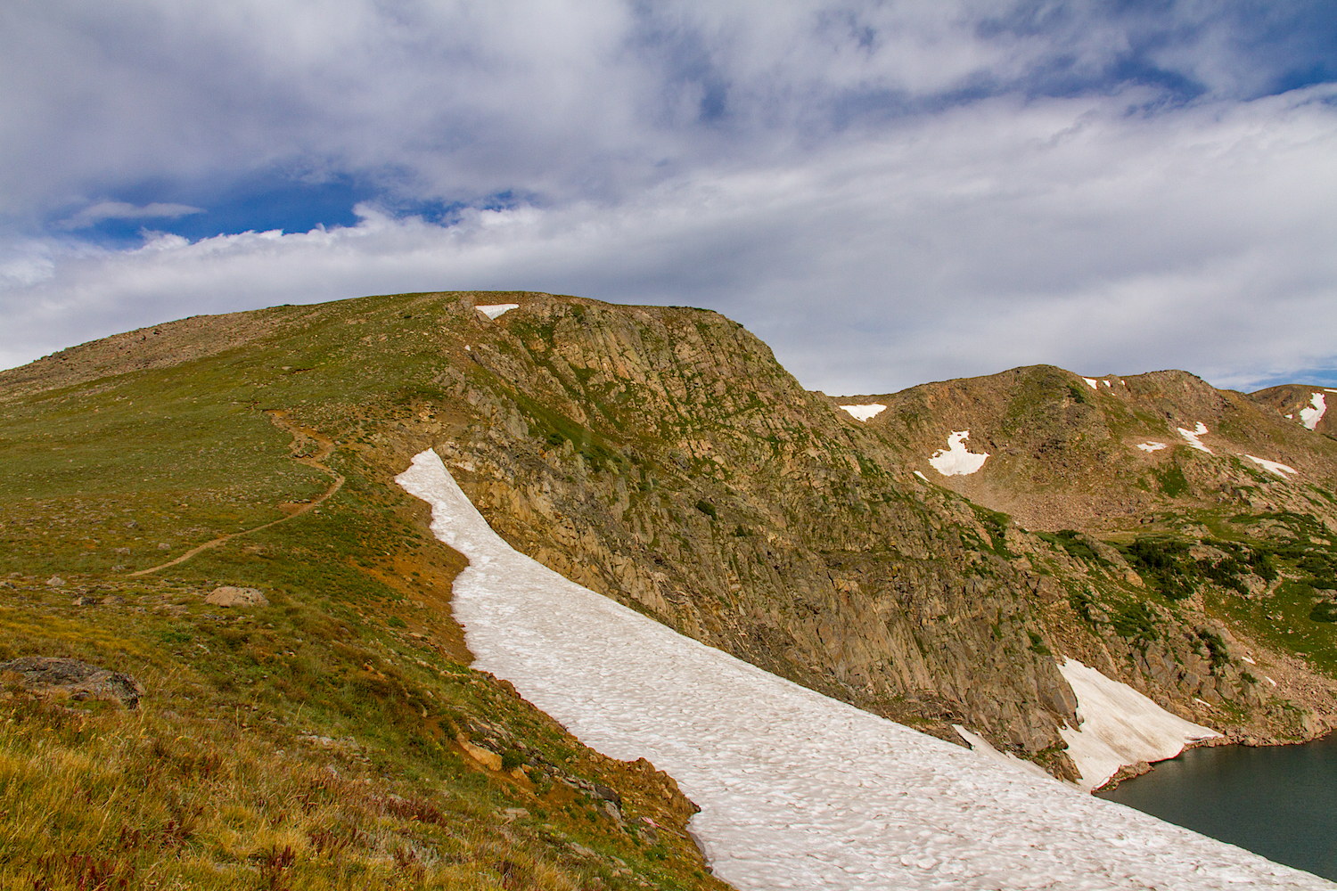 High Lonesome Trail above King Lake, Image # 9648