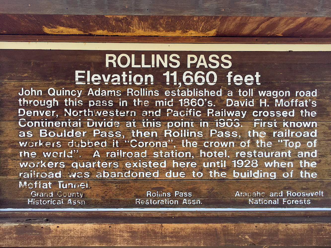 Informative Sign on Rollings Pass, Image # 3448
