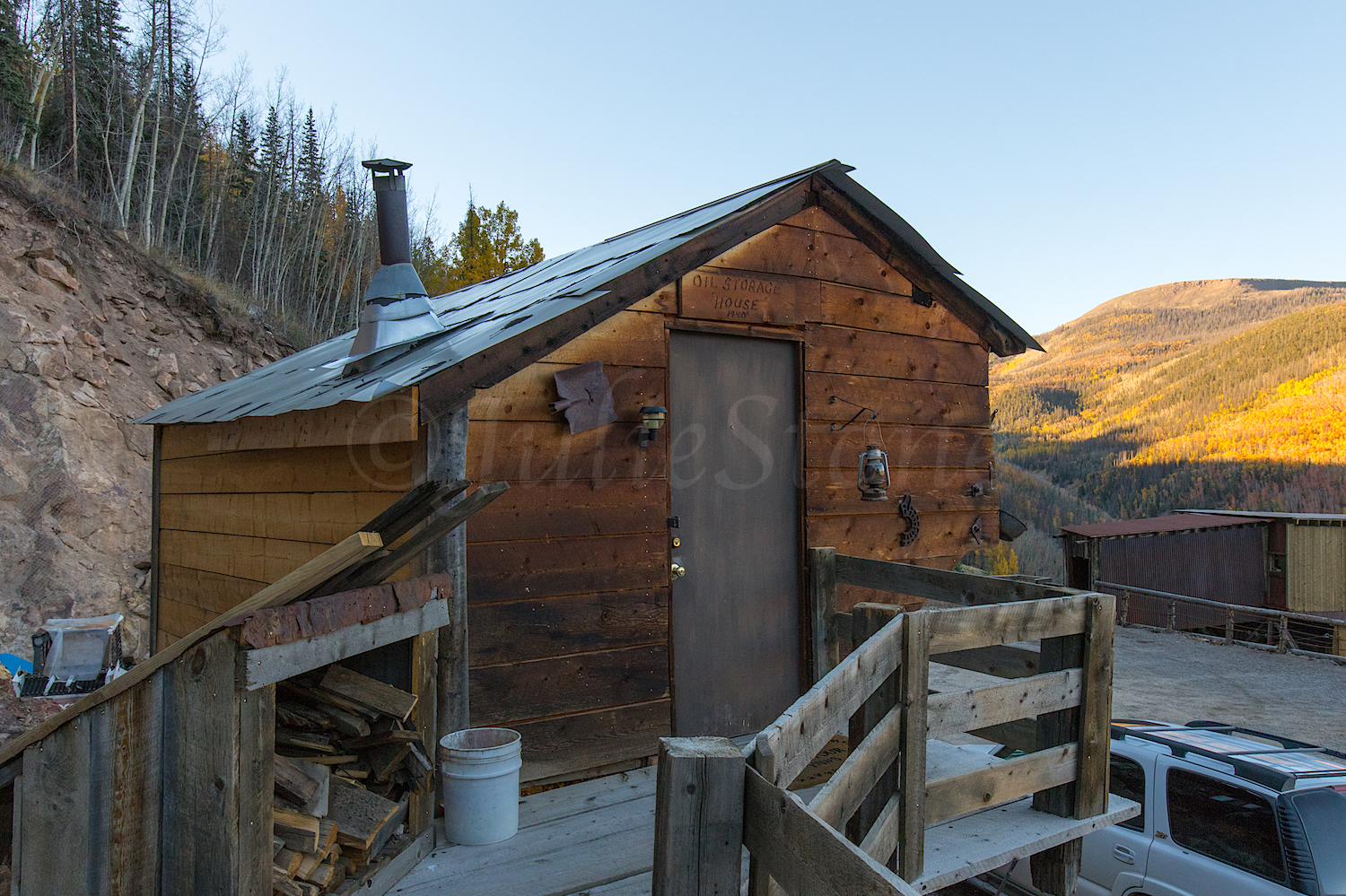Old Miners Cabin and our home, Image # 4671