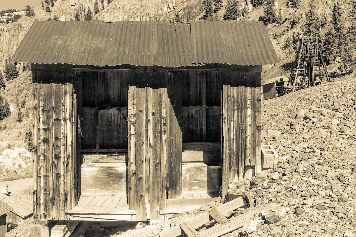 Outhouse at Henson Ghost Town, Image # 5107