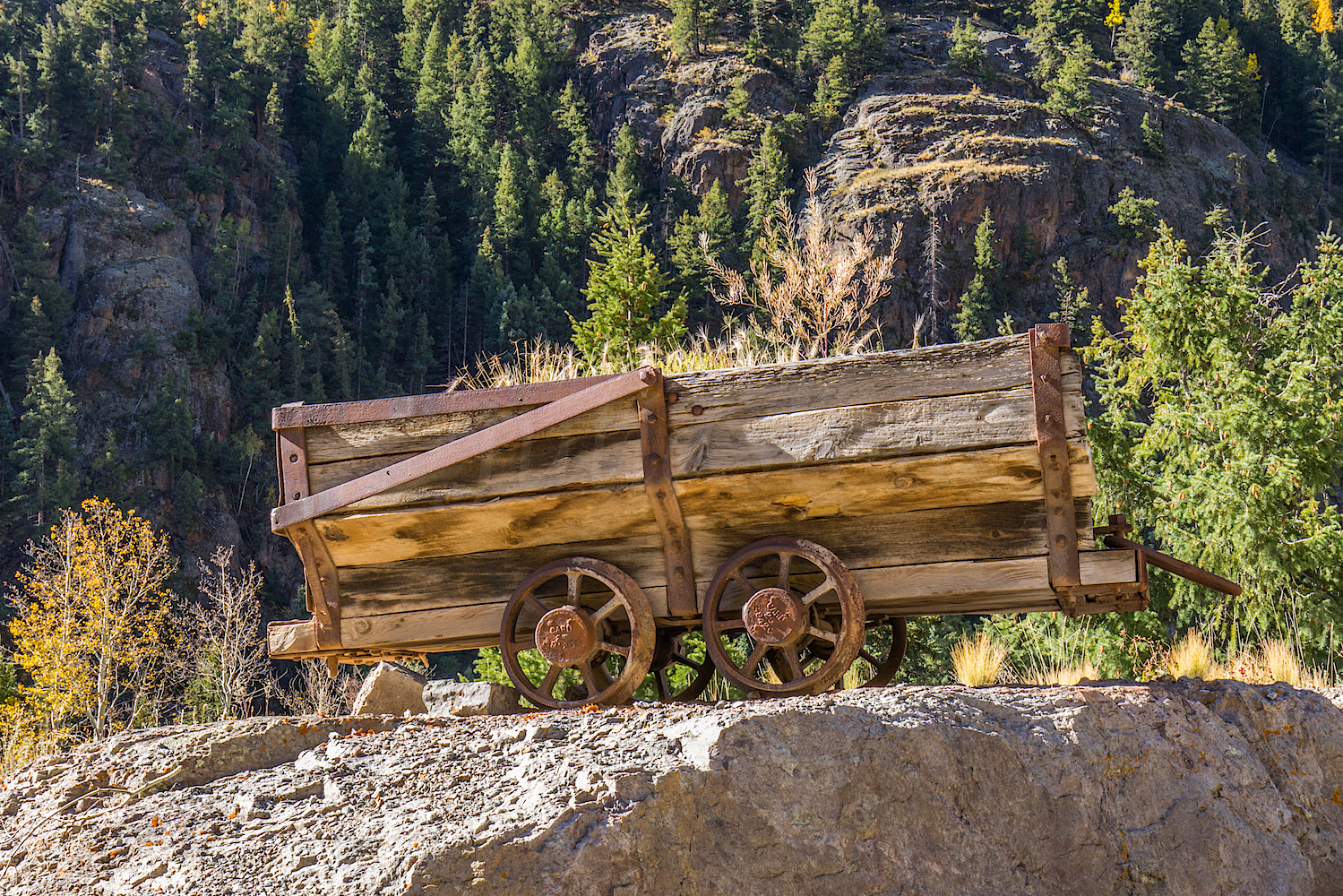 Old Wooden Ore Cart, Image # 5039