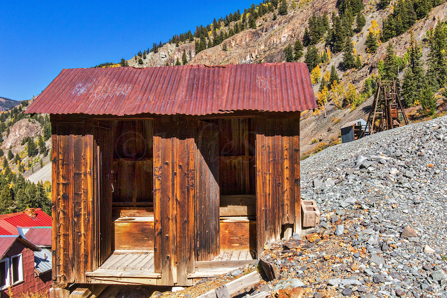 Outhouse at Henson Ghost Town, Image # 5119
