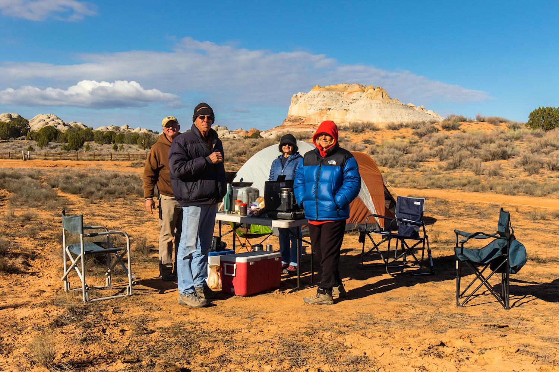 The Brave Campers (Steve, Zarita, Dave & karen)