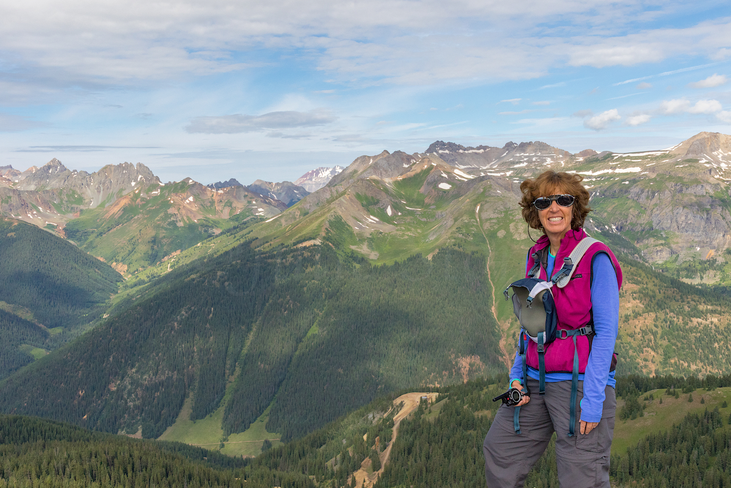 I even got a summit photo..courtesy of Penny Jones