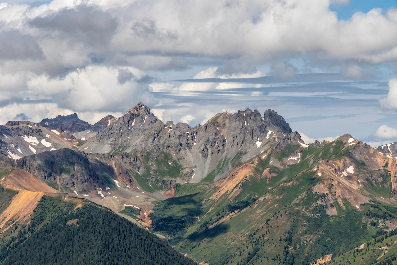View of San Juan Mountains from Ohio Peak Summit