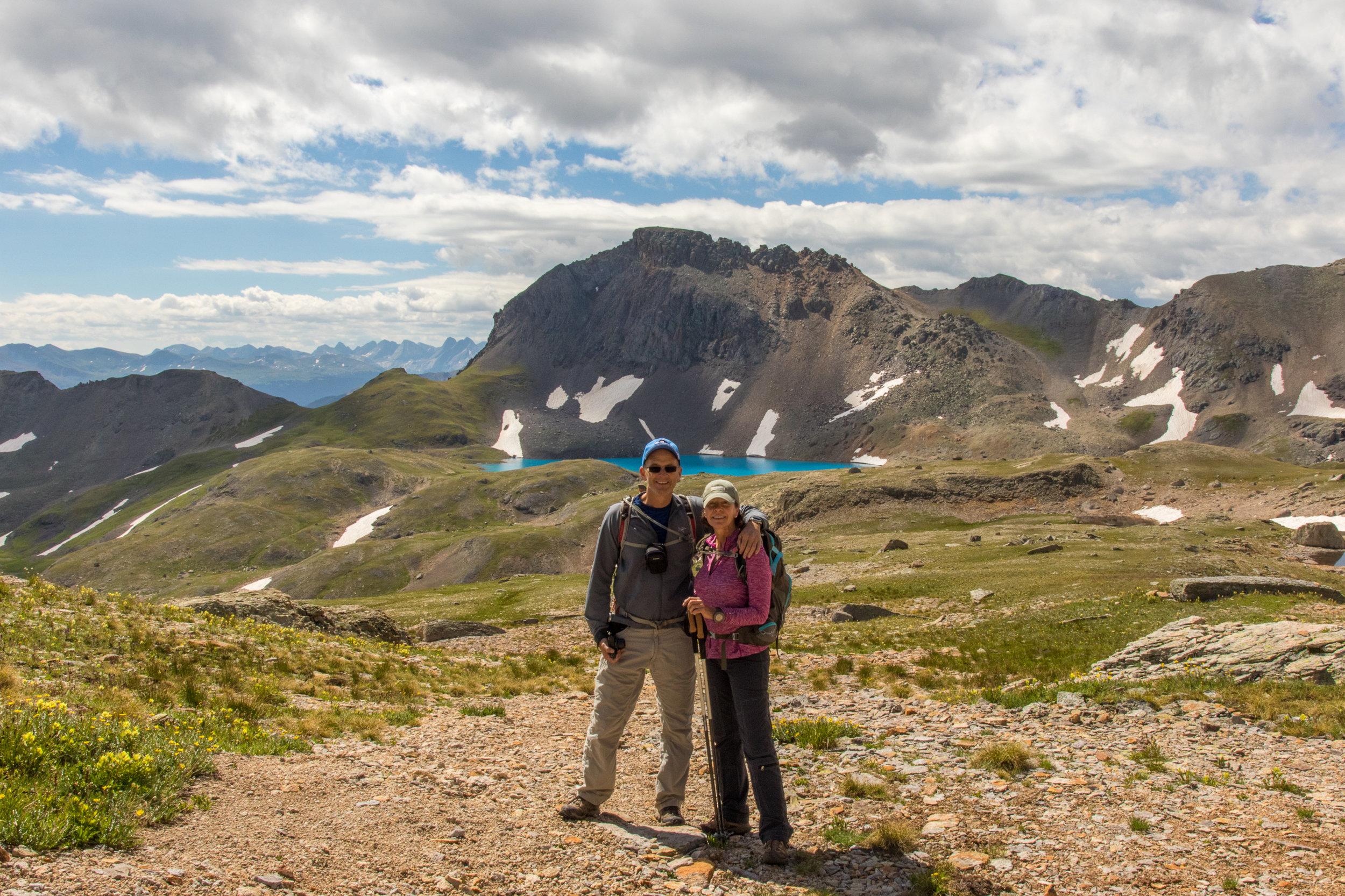 Tim & Angela Bouchard with Columbine Lake