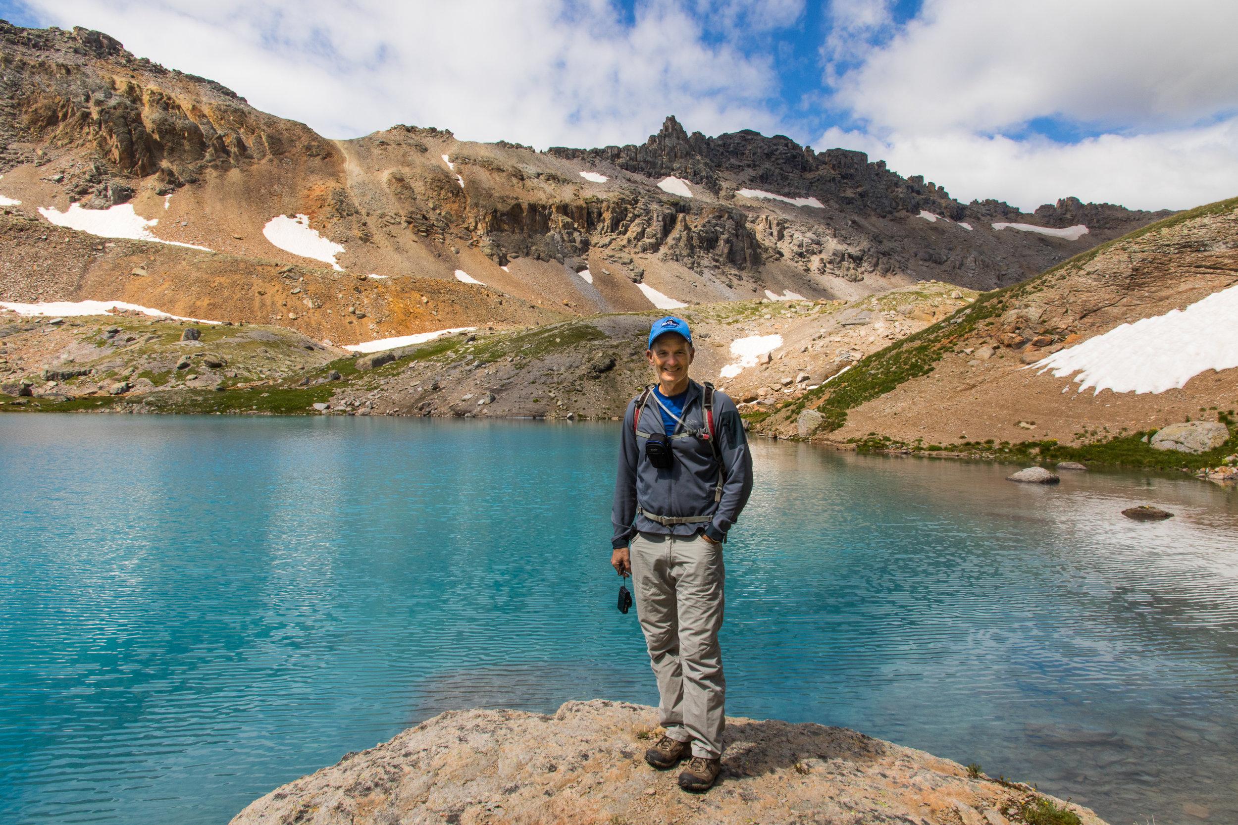 Tim Bouchard at Columbine Lake